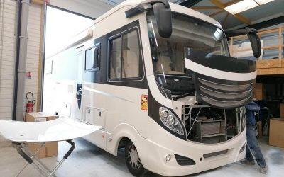 Un magnifique camping-car Gros volume dans notre atelier automobile